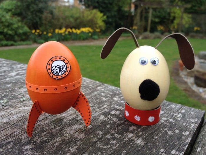 If you're a fan of Shaun's pals Wallace & Gromit, you'll love these egg decorations!