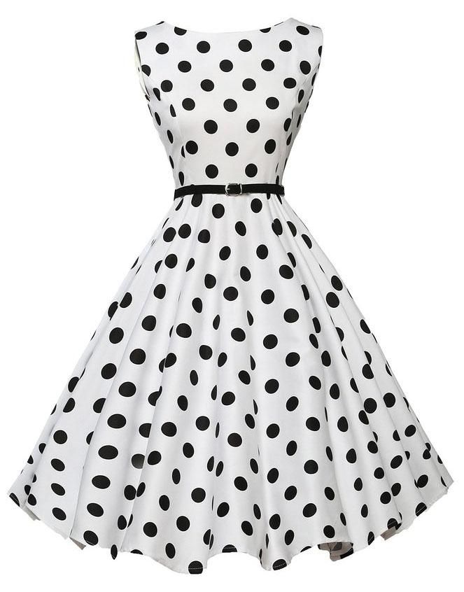b792c4a135c Gender  Women Pattern Type  Dot Season  Summer Style  Vintage Silhouette   Ball Gown Material  Polyester