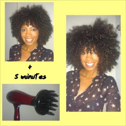 Diffusing Natural Curly Hair