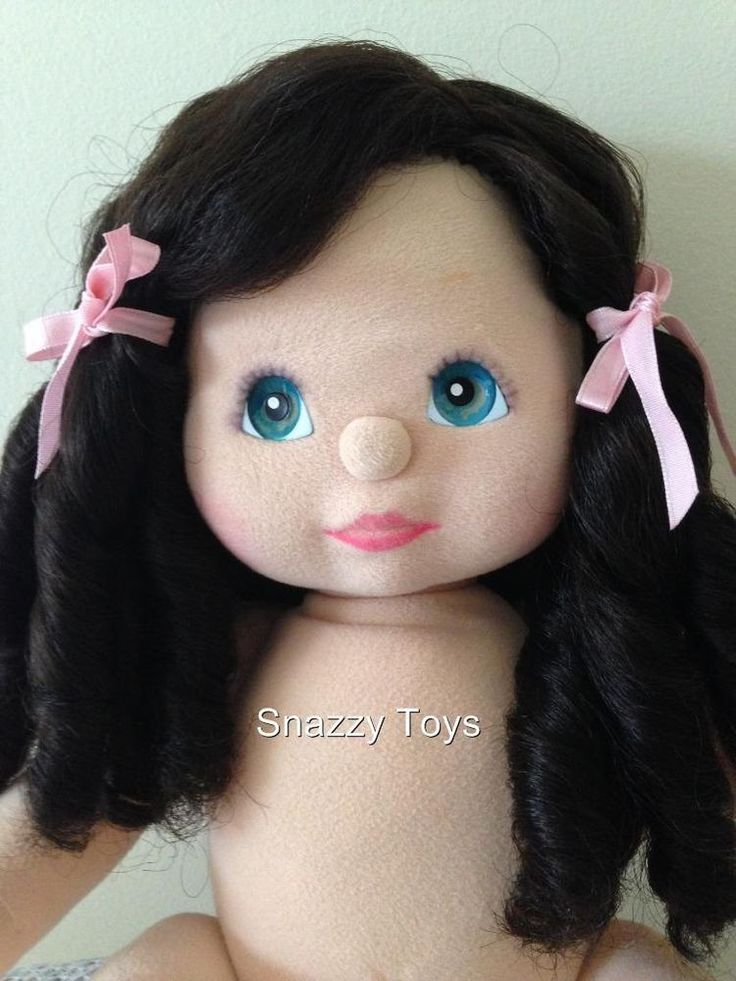 Vintage My Child Doll, Aussie Side-Part Ringlet, Charcoal /Pink, Excellent, RARE #MyChildDoll