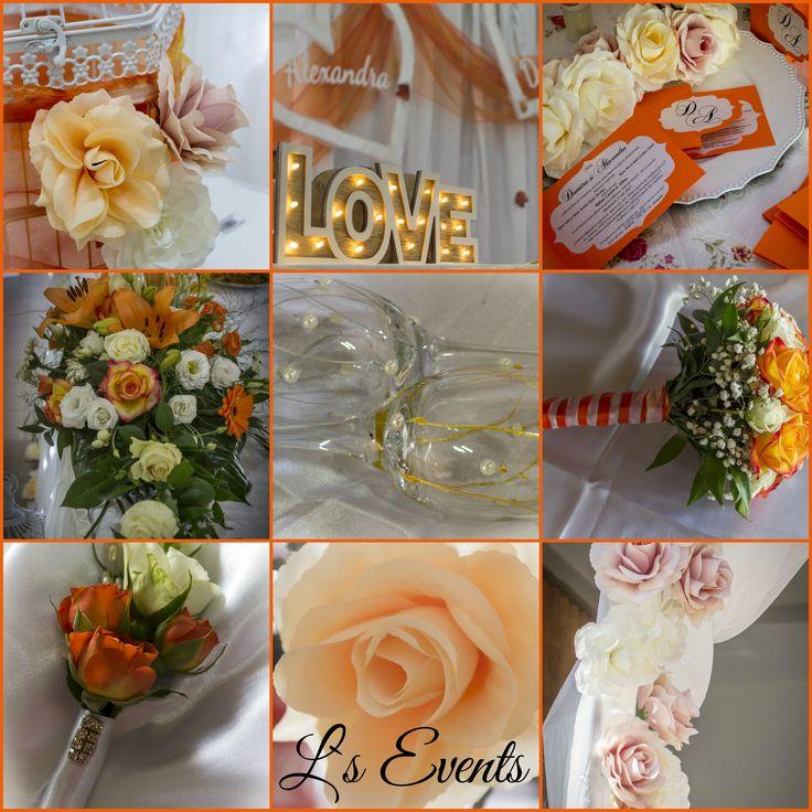 wedding decoration, orange, romantic style, bohemia, rose, poetry wedding