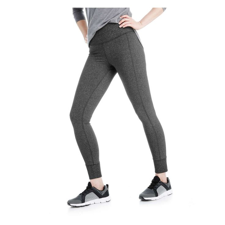 FREE SHIPPING on orders over $50. FREE RETURNS in store. Jumpstart your gym style with our melange legging. The high waist is the ultimate in comfort.