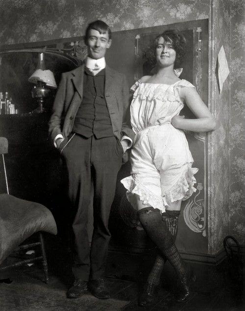 Norman Lindsay and Rose Soady, Bond Street studio, c. 1909, by Lionel Lindsay.