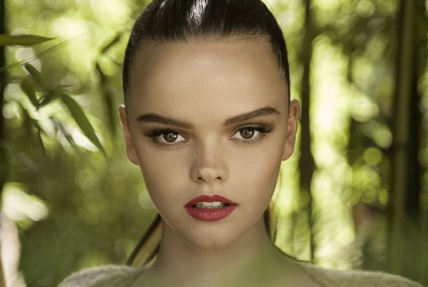 Melissa from Australia's Next Top Model. Her unique forehead makes her a perfect high fashion model.