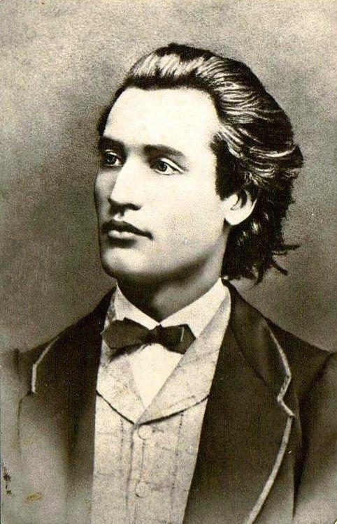 Poet Mihai Eminescu, age 19, 1860