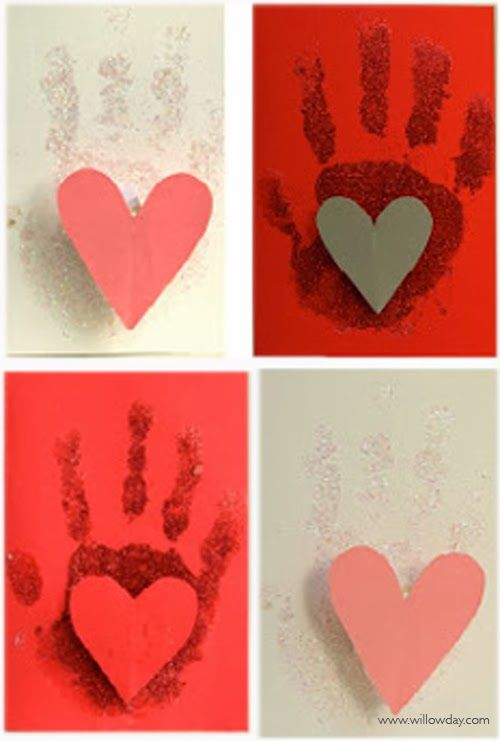 Valentine's Day pop-up: Handprint Cards //willowday