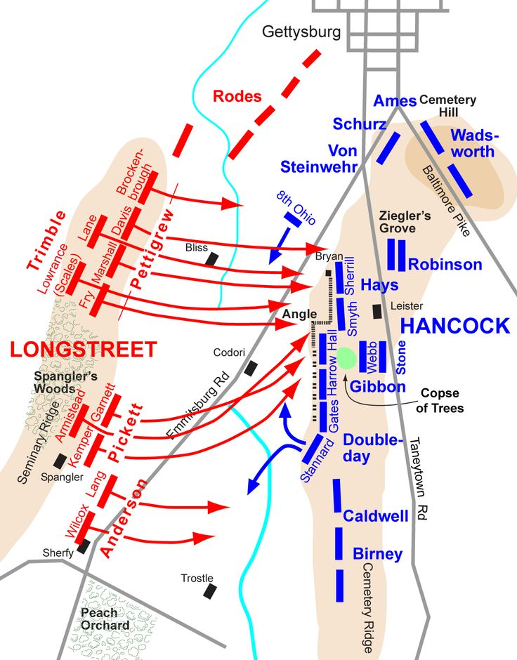 Best Gettysburg Battlefield Maps July Images On - Gettysburg on us map