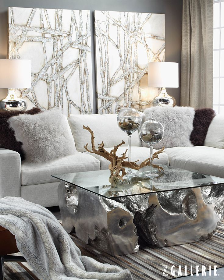 17 best ideas about living room artwork on pinterest - Black gold and silver living room ...