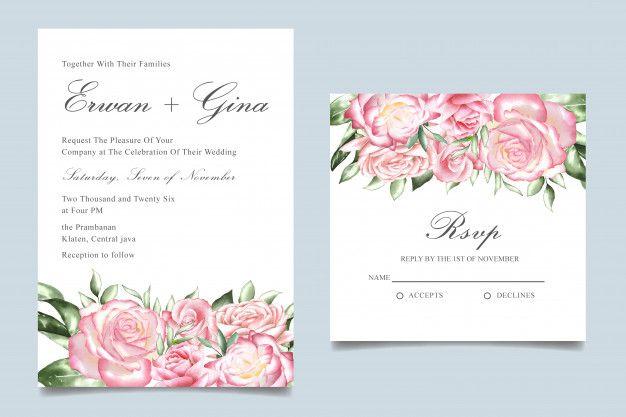 Watercolor Wedding Invitation Template Wedding Invitation Templates Watercolor Wedding Invitations Indian Wedding Invitation Cards