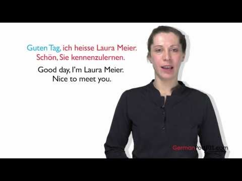 Learn German - How to Introduce Yourself in German #Berlin #Germany Learn German with GermanPod101.com