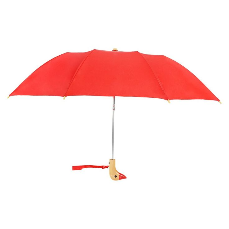 Compact Umbrella with Duck Head Handle -