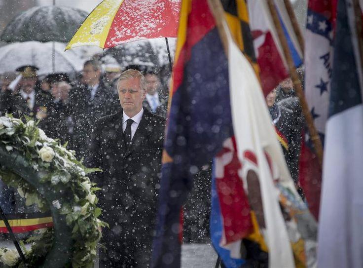 Les commémorations du 70e anniversaire de la Batailles des Ardennes se sont déroulées en présence du Roi Philippe et la Reine Mathilde à Bastogne.