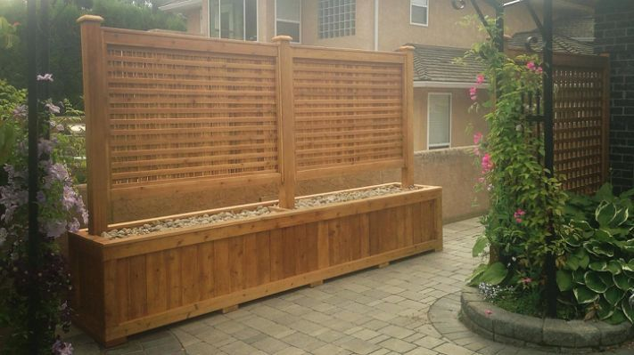 Privacy Planter Box Pathofexilecurrency Us Backyard Planters Garden Privacy Fence Planters