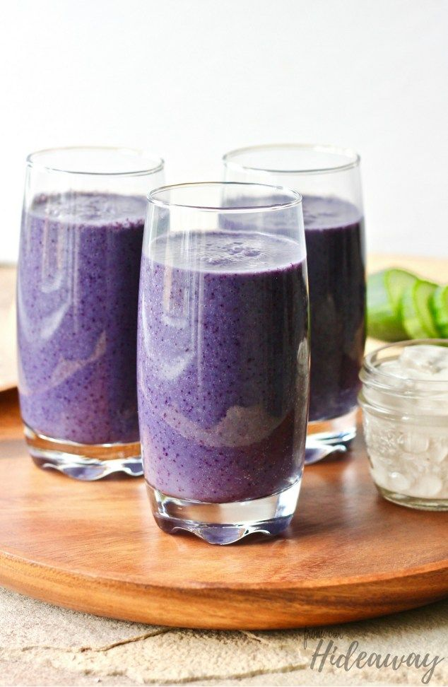 Blueberry Peach Smoothie FromOurHideaway.com