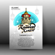 Ramadan Kareem Background vector art illustration