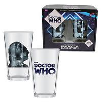 Doctor Who 50th Anniversary First Doctor 16 oz. Glass Set of 2