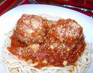 Creole Meatballs and Spaghetti