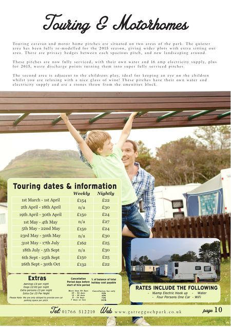 Touring & Motorhomes For 2015 Holidays