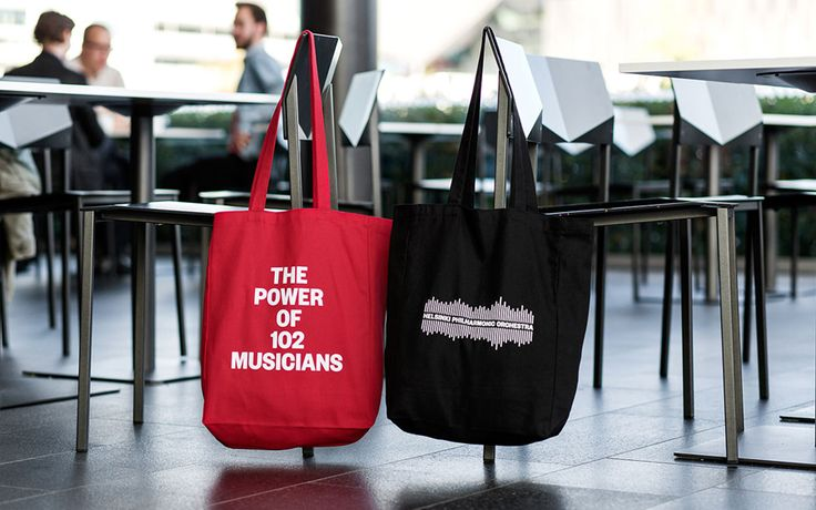 Brand identity and tote bags for Helsinki Philharmonic Orchestra by Bond, Finland