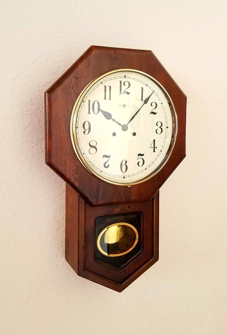 144 best restored antique clocks images on pinterest professionally restored heirloom quality howard miller chiming schoolhouse regulator wall clock from theclockguys amipublicfo Image collections