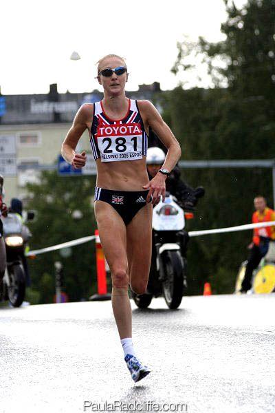 Paula Radcliffe (women's marathon world record holder, 2:15:25, London 2003)......LOUGHBOROUGH is for life ;)