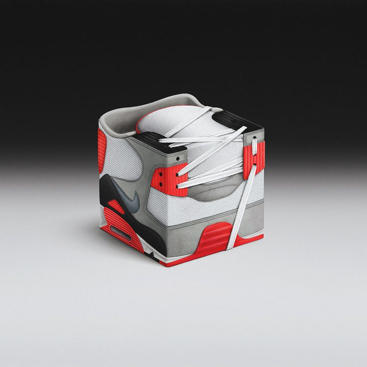Sneakercubes Favourite sneakers cubed up - personal design project ...