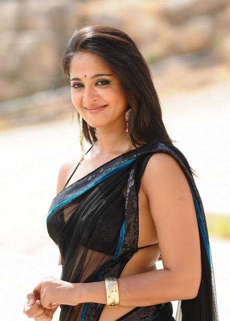 Actresses Photos: Kollywood Actress Actress Anushka Shetty in Transparent Saree and Blouse Picstures Gallery