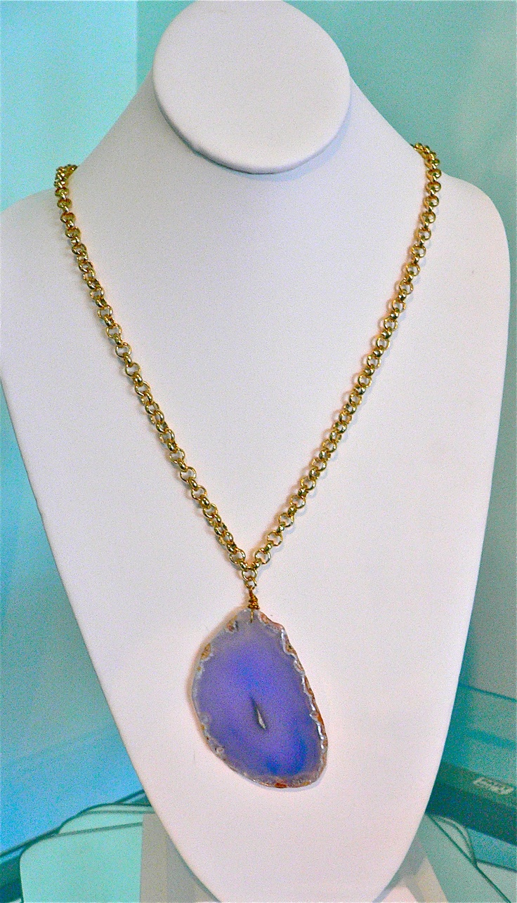 The color of this agate slice is absolutely breathtaking.  Pair it with a maxi dress for some bohemian flair!: Maxi Dresses, Color