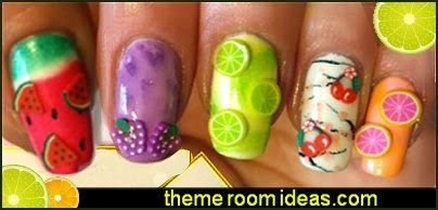 nail art - fruit nail designs - fruit nail art