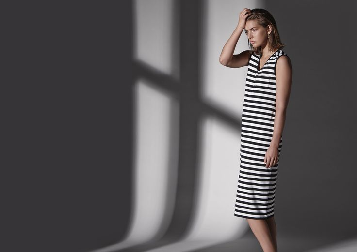Icon stripe cylinder dress.