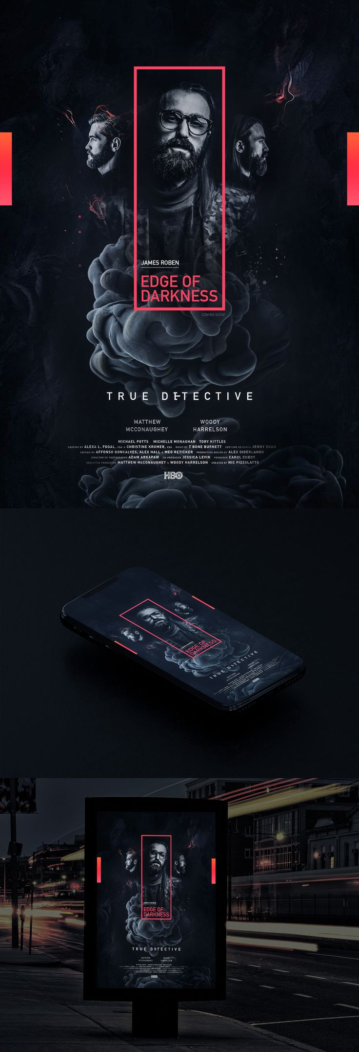 EDGE OF DARKNESS POSTER DESIGN on Behance
