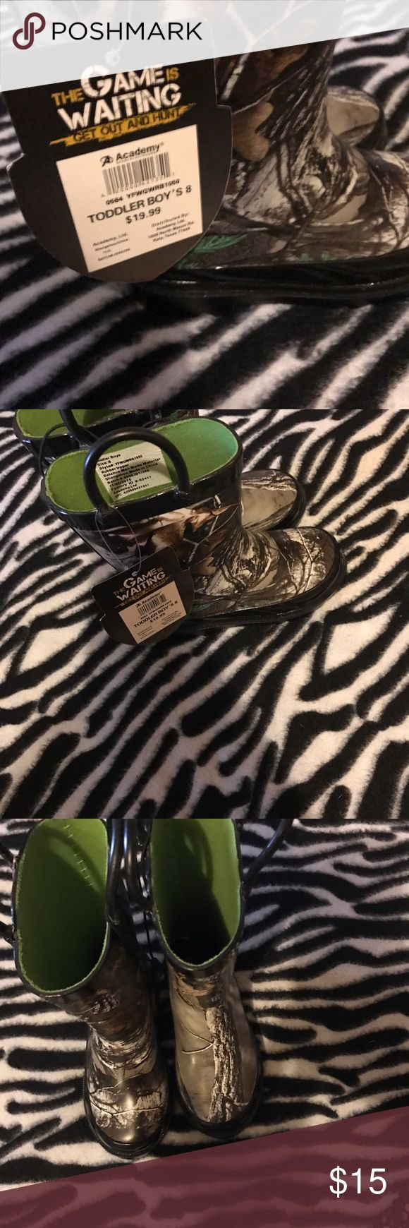 Selling this Toddler Boy's rain boots on Poshmark! My username is: itemsforcheap. #shopmycloset #poshmark #fashion #shopping #style #forsale #Game Winner #Shoes