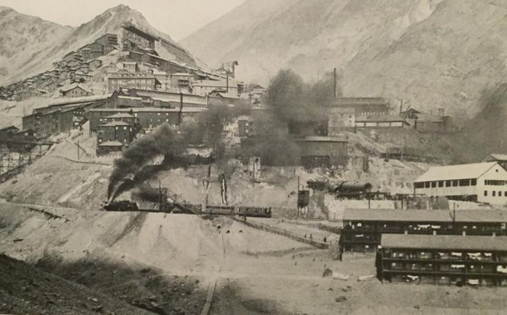 Chile, Rancagua. Minera de cordillera, The Braden Copper Mine - Sewell, año 1927