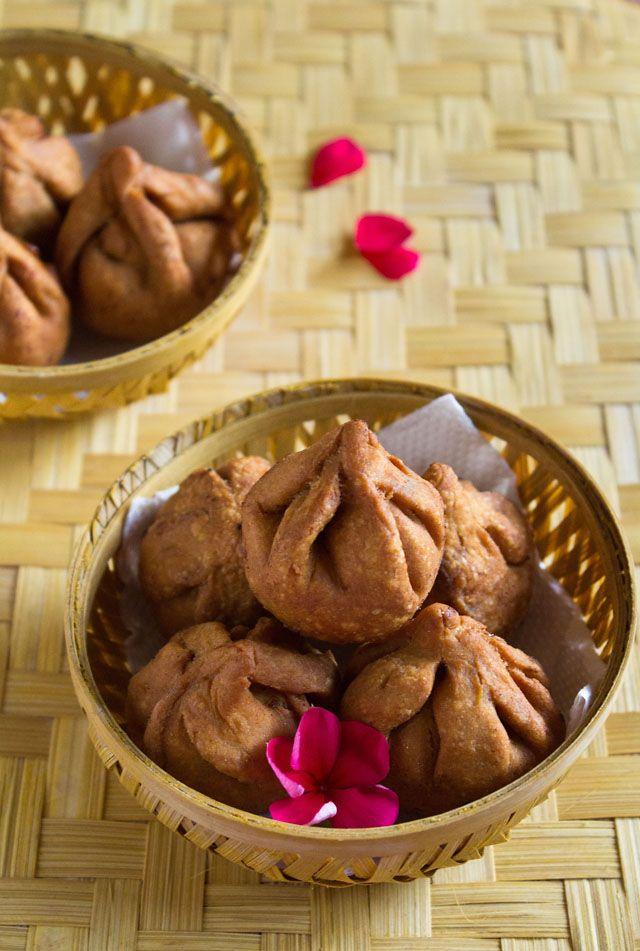 fried modak recipe for ganesh chaturthi festival - step by step #modak recipe   #ganeshchaturthi #modaks