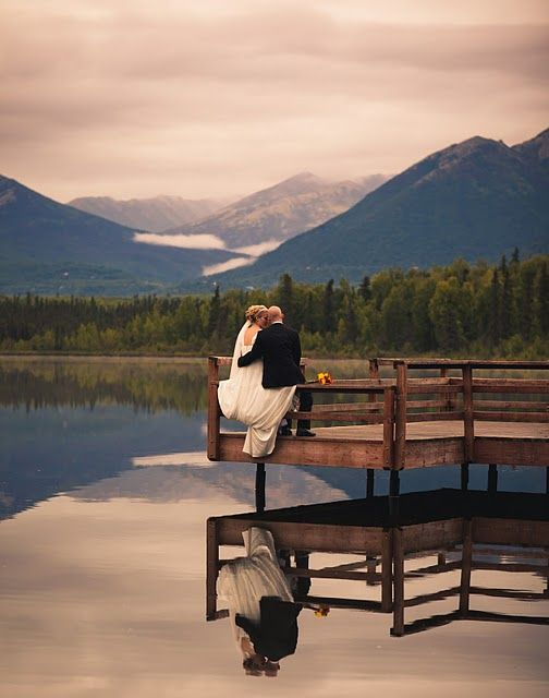 Alaskan Wedding-I want this on the dock of my friends B&B where I used to hang out as a kid