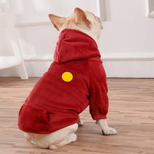 Soft Velour Dog Hoodie By Frenchie World French Bulldog Clothes