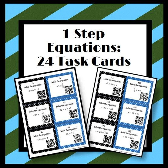 ***Freebie: 1-Step Equation Task Cards With QR Codes!