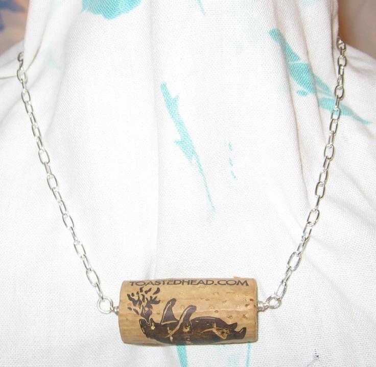 44 best crafts cork images on pinterest corks cork for Cork necklace ideas