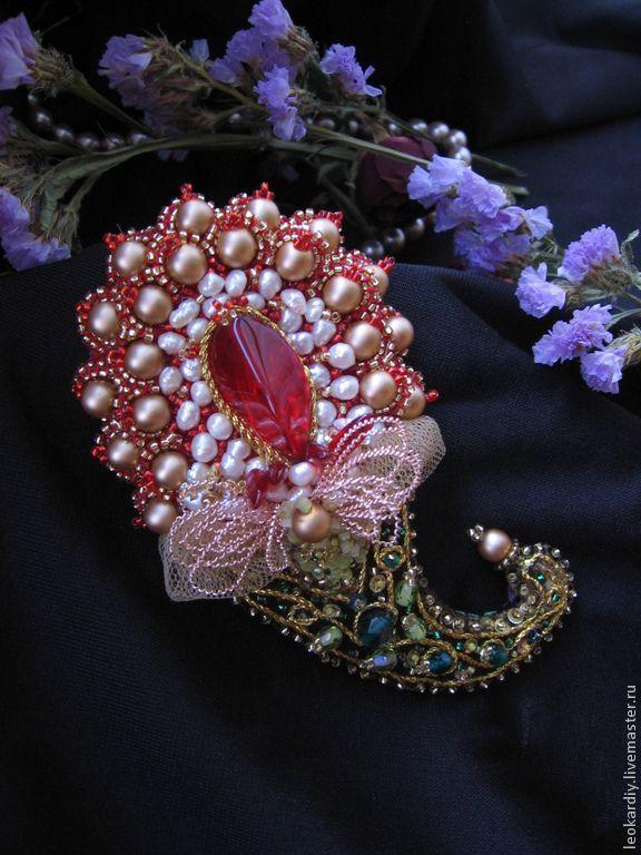 """Купить Брошь-Подвеска """"Индийский огурец"""" - индийский стиль, индийский огурец, брошь в винтажном стиле"""
