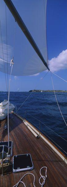 Sailboat racing in the sea, Grenada.