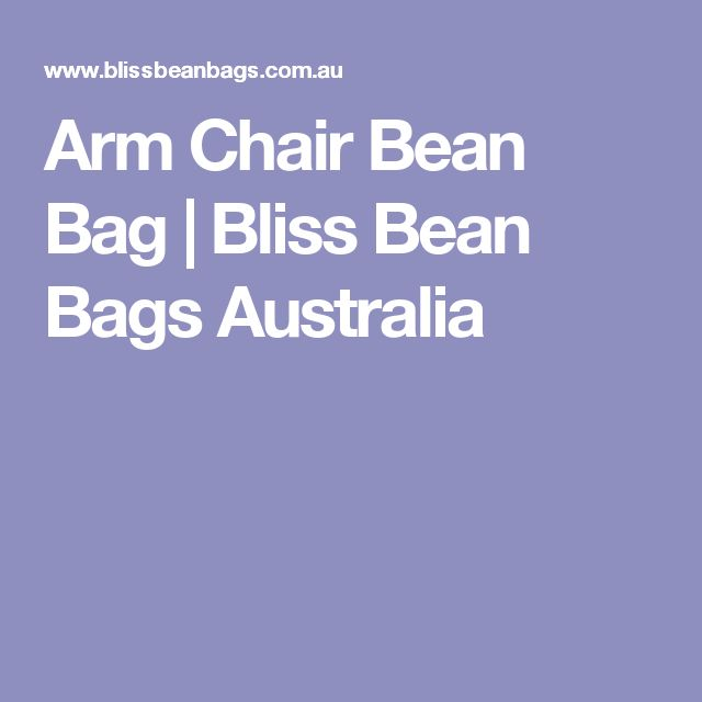 Arm Chair Bean Bag | Bliss Bean Bags Australia