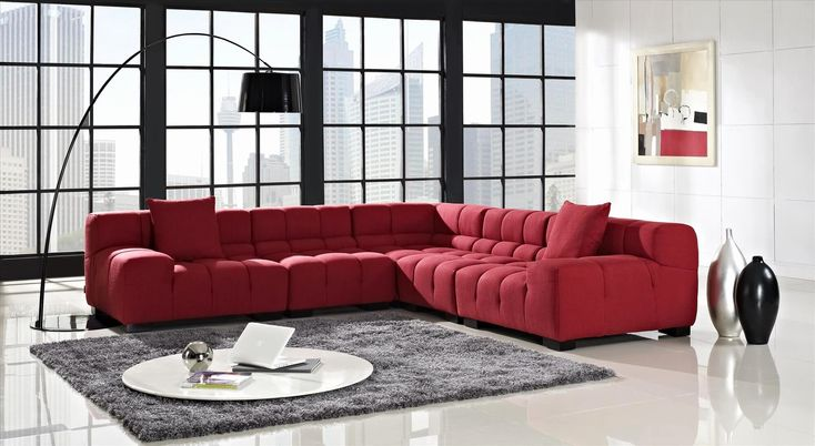 Contemporary Fabric Sectional sofas Shot 18 stylish modern red sectional sofas