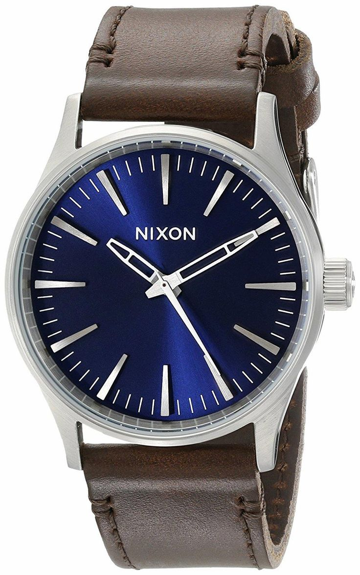 We make the little stuff better: NIXON A377 Sentry 38mm Stainless Steel Watch With Leather Band. Fueled by adventures far and wide and often sometimes by those that happen just down the street we deliver products that meet your needs in various high-stress work and play environments.  #NIXON #KhaValeri    https://ro.pinterest.com/KhaValeri/    kha_amz_NIXsentry0107_v9