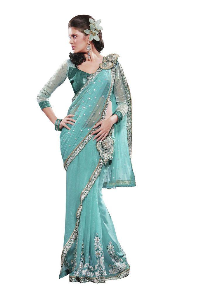 Pakistani New Saree Partywear Bollywood Indian Wedding Sari Ethnic Designer SC  #KriyaCreation #SariSaree
