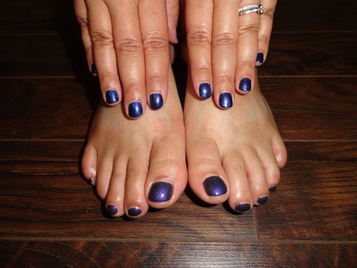 Dark Purple Shellac Toes With Navy Shellac Nails Cheryl