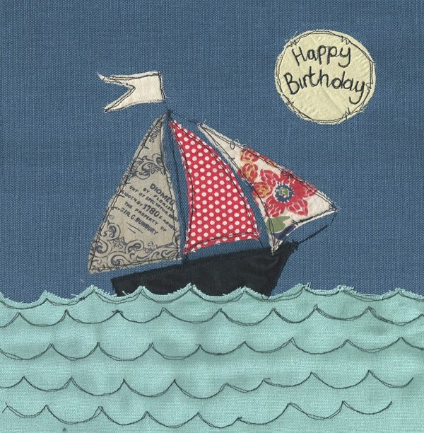 Wish that special someone a Happy Birthday with this sweet little sail boat, inspired by the Cornish seaside. Our greeting cards are all based on Poppy's original stitched designs and are printed here in Cornwall.
