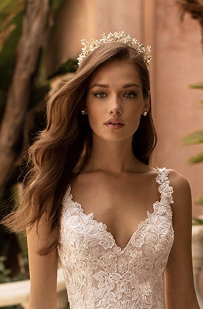 Genevieve Gilded Blossoms Bridal Crown In 2020 Wedding Hair Down