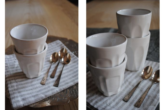 Set of 4 icecream cups by josephine road by KA.AD for sale on hellopretty.co.za - R180.00 / $17.00