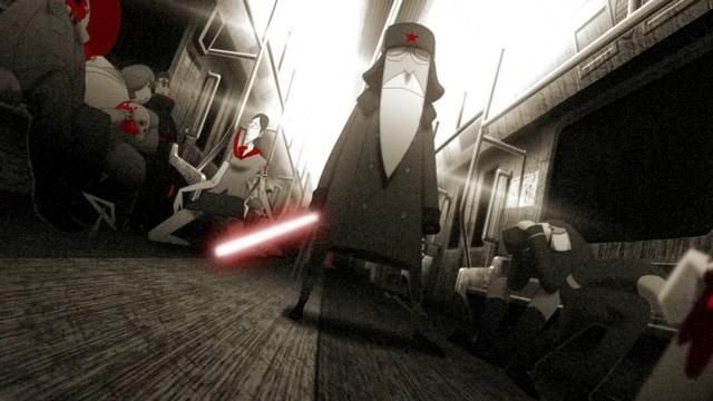 A great animation: SubWars by SeanSoong. An old man on the subway,but nobody can Offer one 's seat to  him… #animation