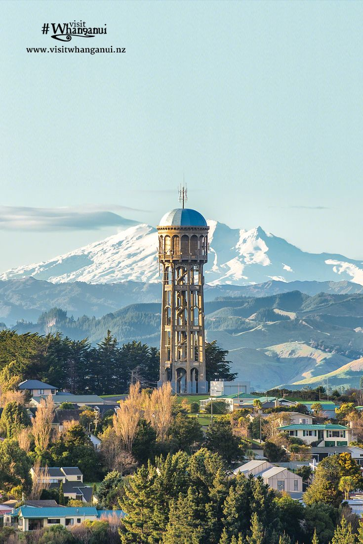 The Bastia Hill Water Tower in Whanganui, New Zealand. Built in 1927, the arched aqueducts and towers of the water supply reflect the water networks of ancient Rome. via @visitwhanganui